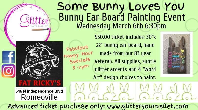 Some Bunny Loves You – Bunny Ear Board – Fat Ricky's, Romeoville – Public