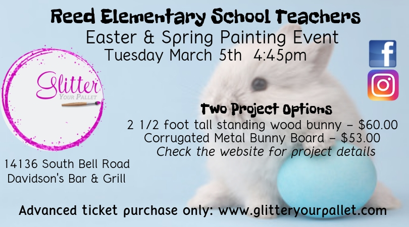 Reed Elementary School Teaches – Easter/Spring Painting Event – Private Party