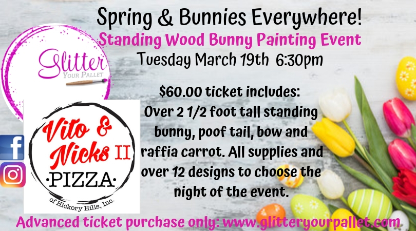 *** SOLD OUT*** Spring & Bunnies Everywhere – Vito & Nick's II, Hickory Hills – Open To The Public