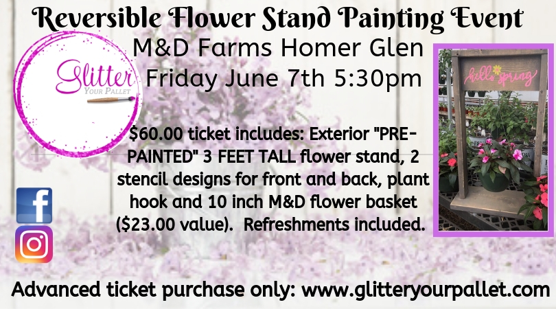 Reversible Flower Stand Painting Event – M&D Farms – Public