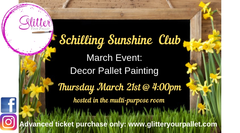 Schilling Sunshine Club, Decor Pallet Painting Event – Private Party