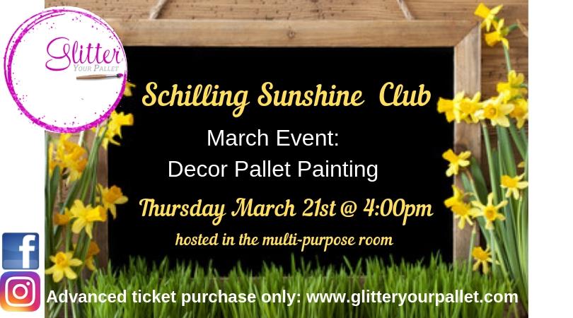 Schilling Sunshine Club, Decor Pallet Painting Event – Private Party