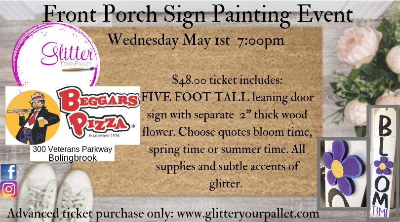 Front Porch Sign Painting Event – Beggars Pizza Bolingbrook – Pubic