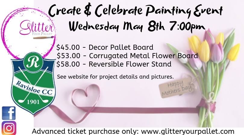 Create & Celebrate Painting Event, Ravisloe Country Club, Homewood – Open To The Public