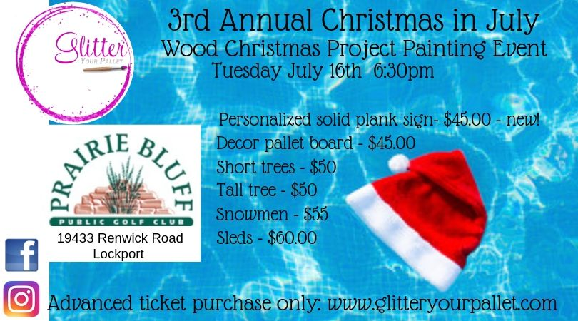 3rd Annual Christmas In July – Prairie Bluff Golf Course, Lockport – Public