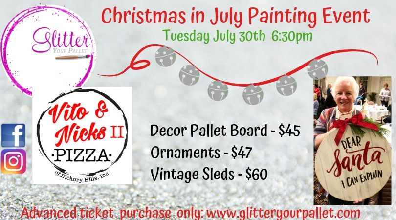 *** SOLD OUT*** Christmas In July – Vito & Nick's II, Hickory Hills – Open To The Public