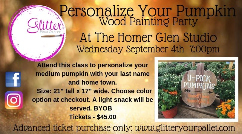 Personalize YOUR Pumpkin – Homer Glen Studio – Open To The Public