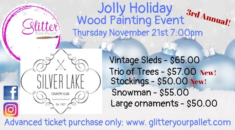 *** SOLD OUT***  3rd Annual Jolly Holiday Silver Lakes Painting Event – Open To The Public