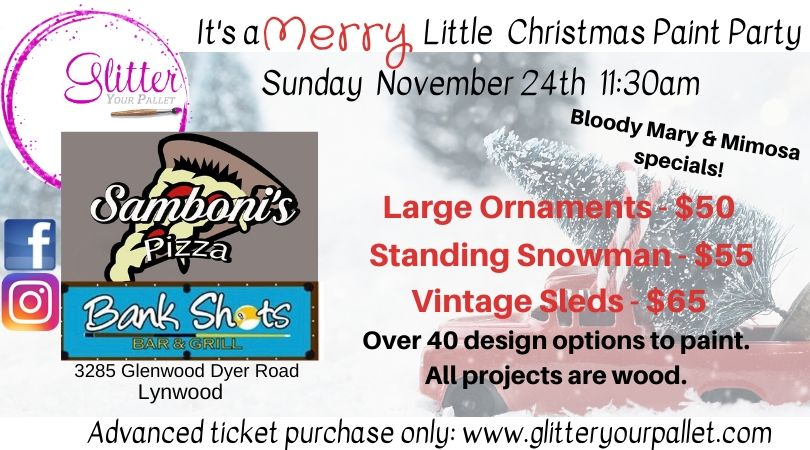 It's a Merry little Christmas Event – Bank Shots, Lynwood – Open To The Public