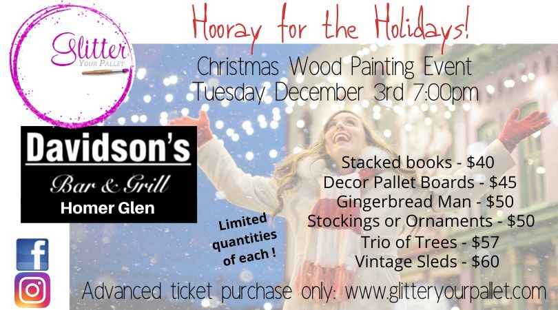 ** SOLD OUT ** Hooray for the Holidays! Davidson's Bar & Grill, Homer Glen – PUBLIC