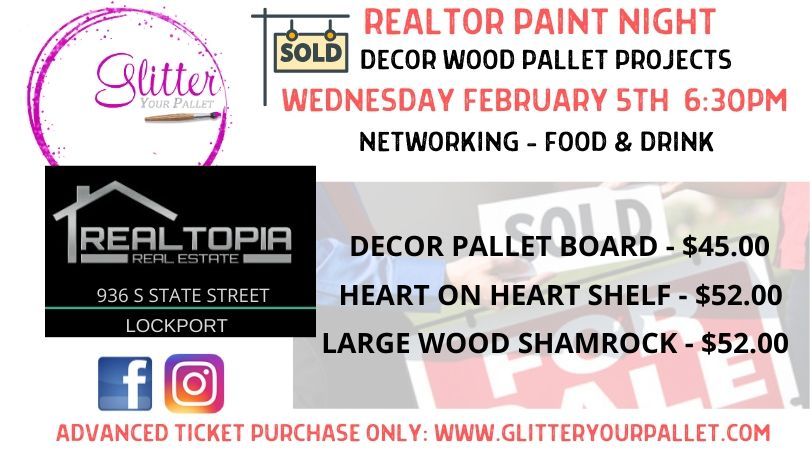 Realtopia Real Estate – Realtors Paint Night – Public Event