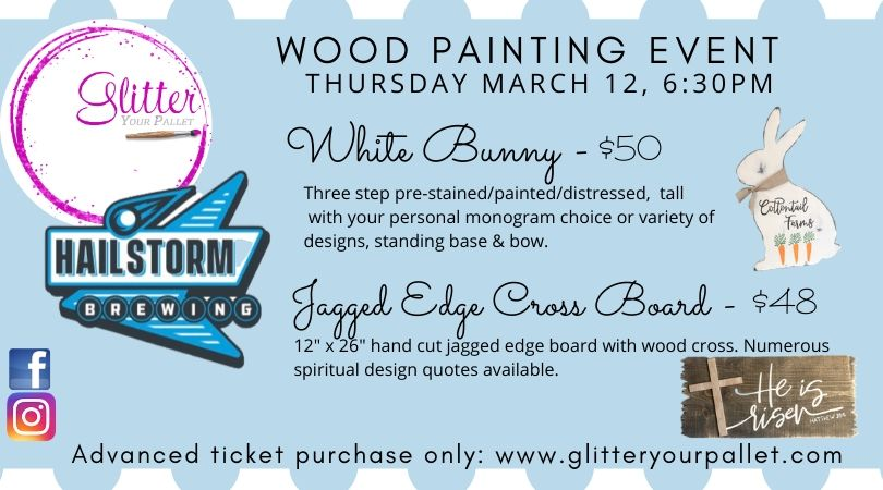 HailStorm Brewing Tinley Park – White Bunny & Jagged Edge Cross Board Event – Open To The Public