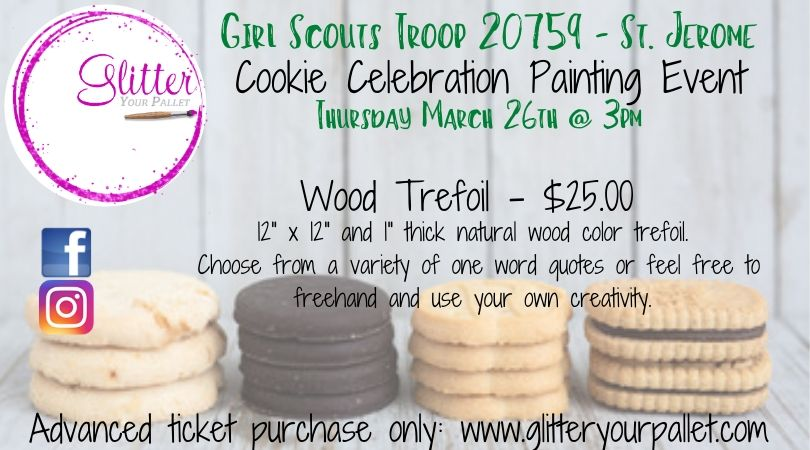 Girl Scouts Troop 20759 – St. Jerome – Wood Trefoil Painting Event