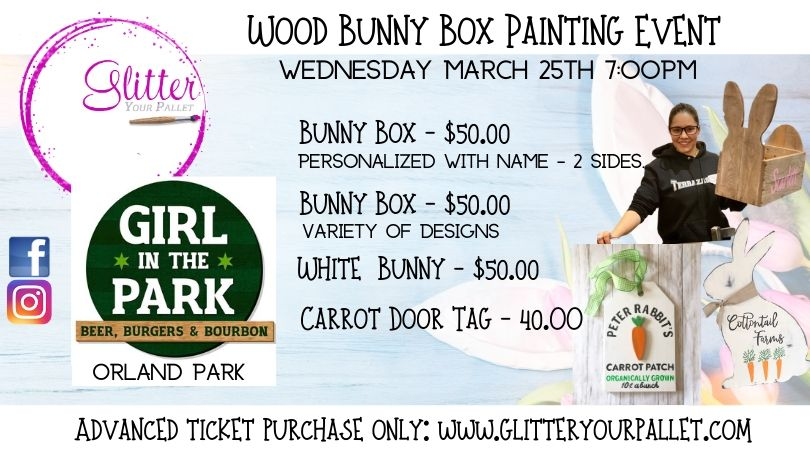 Wood Bunny Box – Girl In The Park, Orland Park – Open To The Public