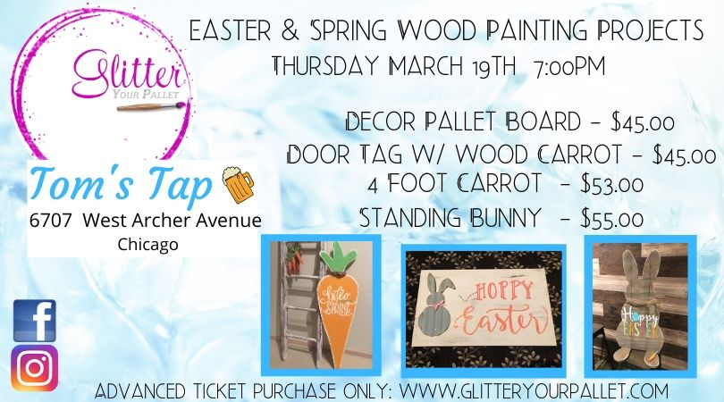 Tom's Tap Garfield Ridge – Easter & Spring Wood Painting – Open To The Public