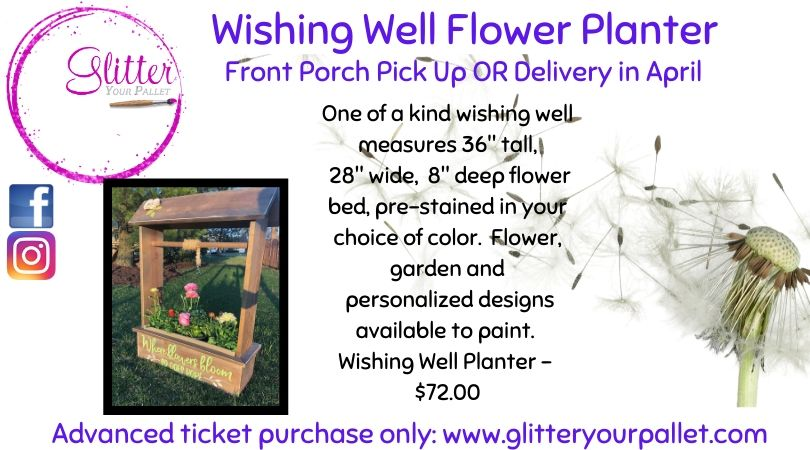 Wishing Well Flower Planter, (Statement Piece)