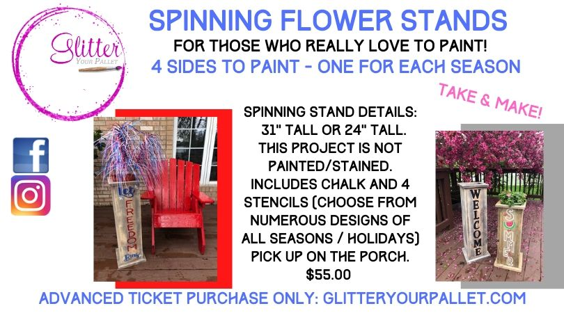 Spinning Flower Stands – Take & Make Project