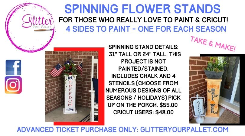 Spinning Flower Stand – Take and Make
