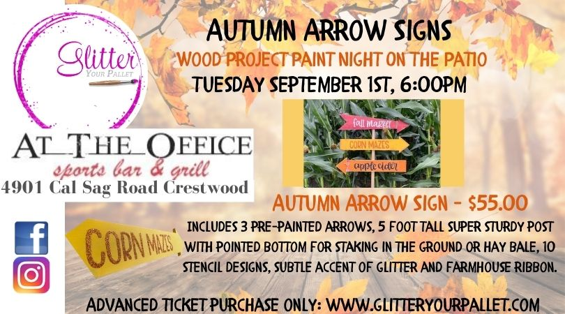 ** SOLD OUT** Autumn Arrows  Outdoor Patio Event – At The Office, Crestwood – Open To The Public