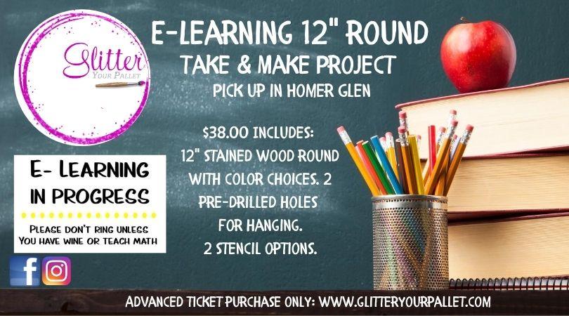 E-Learning Round Door Hanger – Porch Pick Up Homer Glen