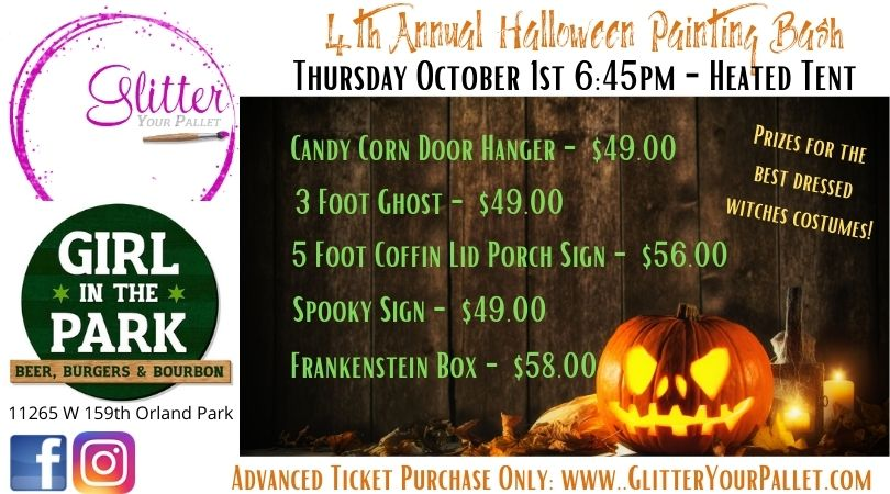 *** SOLD OUT *** Girl In The Park – 4th Annual Witches Halloween Painting Bash – Heated Tent – Open To The Public