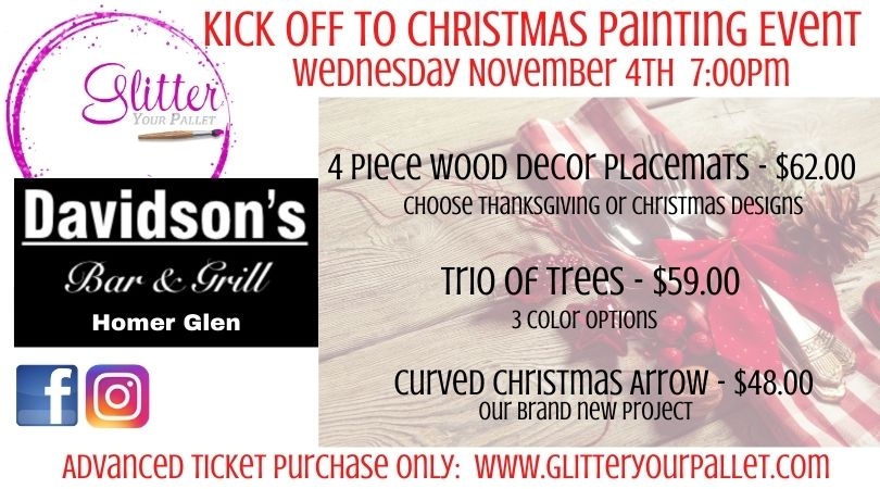 ** SOLD OUT ** Christmas Kick-Off Painting Event! Davidson's Homer Glen – Public