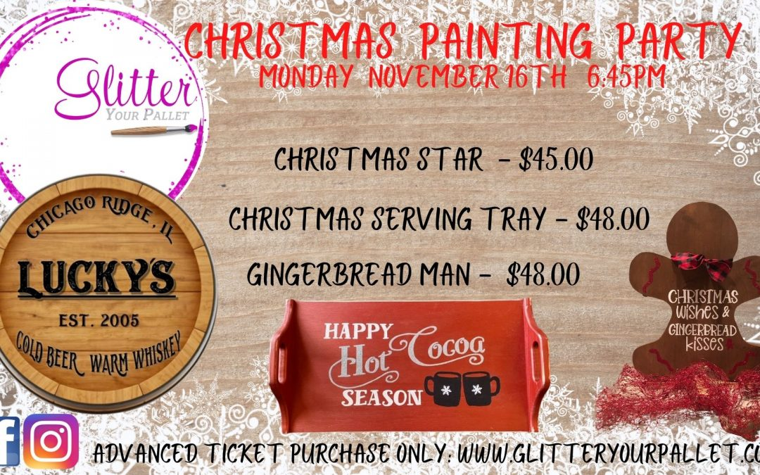 Christmas Paint Party – Lucky's Lounge – Public