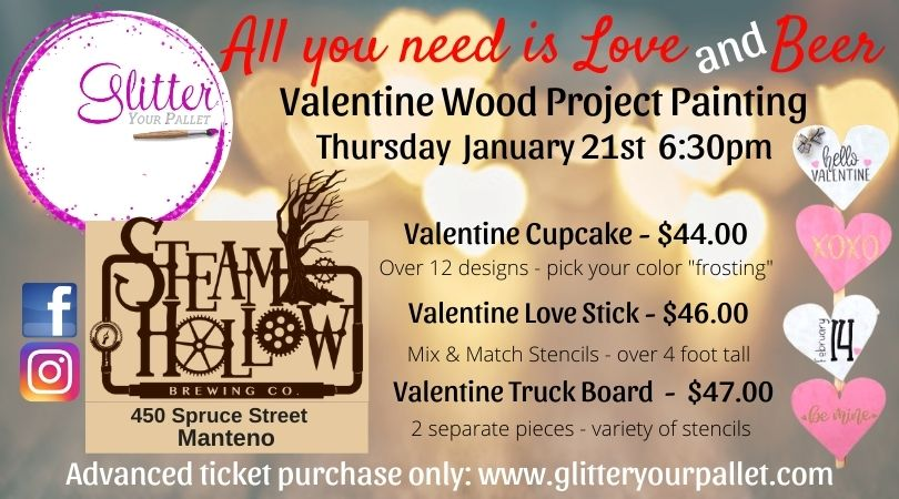 All you needs LOVE & BEER – Steam Hollow Manteno – Open To The Public