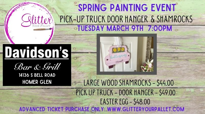 Spring Painting Event – Davidson's Bar & Grill – Homer Glen – Open To The Public