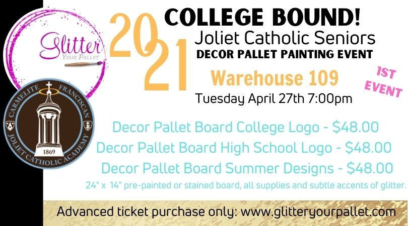 Jennifer Buss – College Bound Painting Event – Warehouse 109, Plainfield (1st Event)