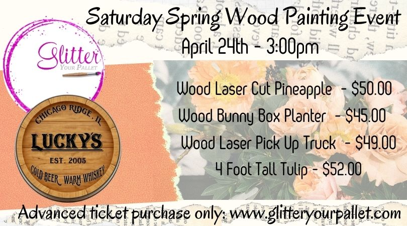 Lucky's Lounge – Saturday Spring Painting – Open To The Public