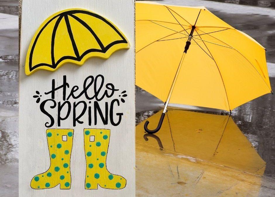 Spring Take & Make Umbrella Board  – Pick Up On The Porch