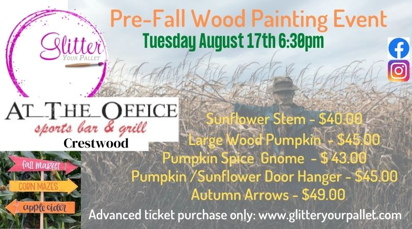 Pre-Fall Painting Patio Event – At The Office, Crestwood – Public