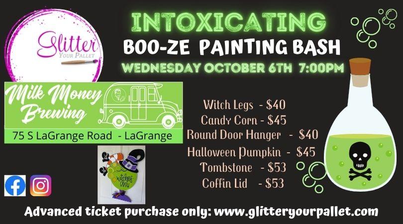 Intoxicating BOO-ZE Painting Bash – Milk Money Brewing, LaGrange – Public